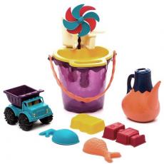 68704 Игровой набор для песка в пляжной сумке (красный), фото
