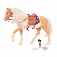 """Лошадь породы """"Американский Квотерхорс"""" с аксессуарами; буланая, фото"""