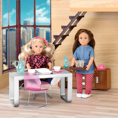 """Набор игровой """"Стильная столовая"""" с мебелью и аксессуарами, фото"""