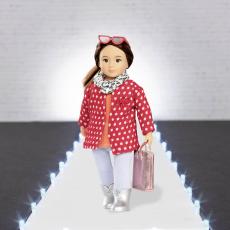 Комплект одежды для куклы с плащом, фото