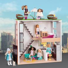 Дом для куклы с аксессуарами; пластмассовый, фото