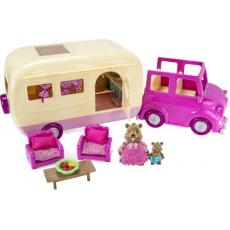 """Набор игровой """"Дом на колёсах"""" с аксессуарами розовый, фото"""