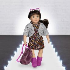 Комплект одежды для куклы с платьем, фото