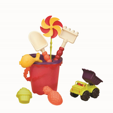 68714 Малое ведерко и игровой набор для песка, 9 деталей (оранжевый), фото