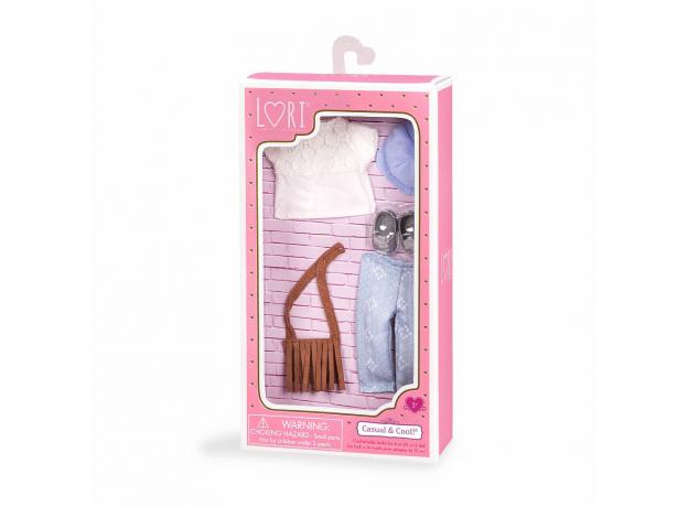 Комплект одежды для куклы Lori с сумочкой, фото , изображение 3