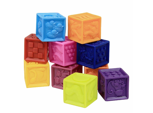 Мягкие кубики B.Toys (Battat) «One Two Squeeze», фото