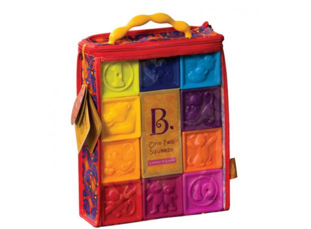 Мягкие кубики B.Toys (Battat) «One Two Squeeze», фото , изображение 2