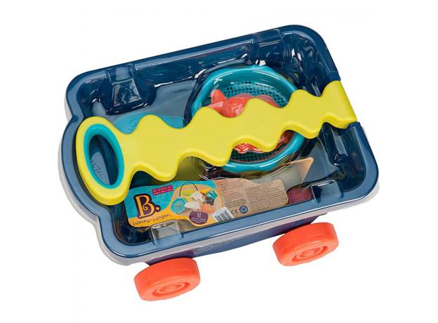 Тележка с игровым набором для песка B.Toys (Battat), синия, фото , изображение 2