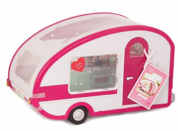 Автофургон для куклы Lori c мебелью и аксессуарами, фото , изображение 2