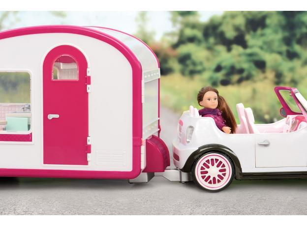 Автофургон для куклы Lori c мебелью и аксессуарами, фото , изображение 3