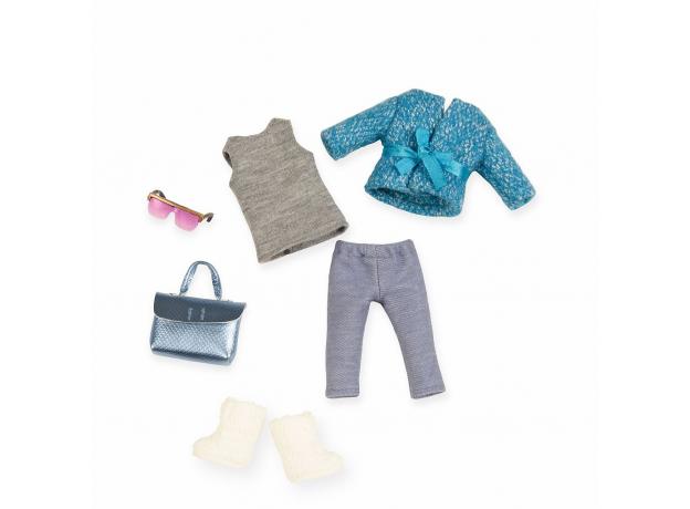 Комплект одежды для куклы Lori с шерстяным пальто, фото