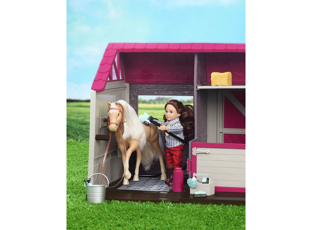Конюшня для лошадей и жеребят Lori с аксессуарами, фото , изображение 2