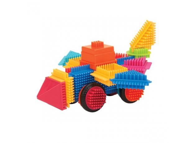 Конструктор игольчатый в банке Bristle Blocks (Battat): 80 деталей, фото