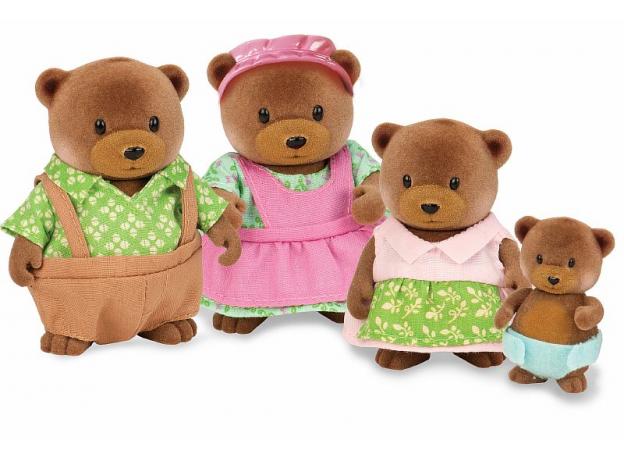 Игровой набор Li'l Woodzeez «Семья медвежат», фото