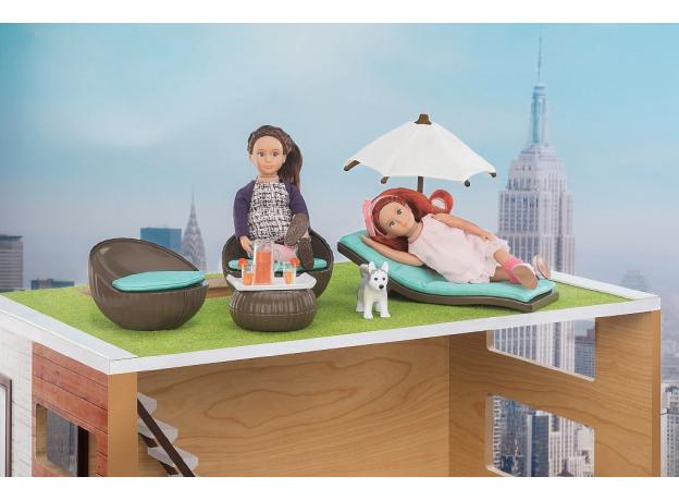 Игровой набор Lori «Патио на крыше» с мебелью и аксессуарами, фото