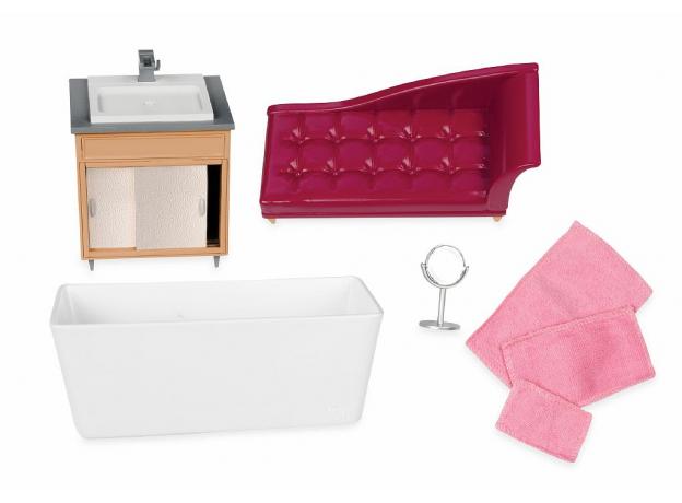 Игровой набор Lori «Роскошная ванная» с мебелью и аксессуарами, фото , изображение 3