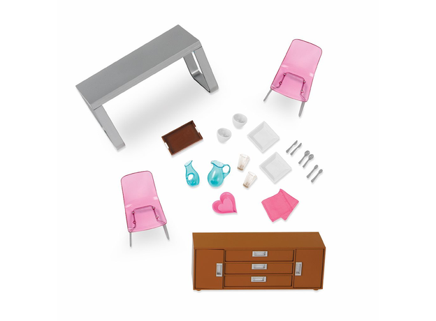 Игровой набор Lori «Стильная столовая» с мебелью и аксессуарами, фото , изображение 2