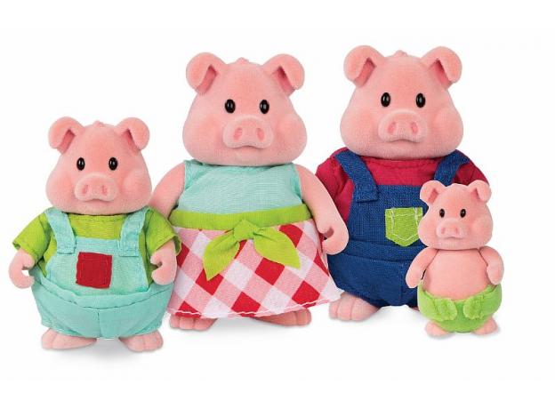 Игровой набор Li'l Woodzeez «Семья свинок», фото