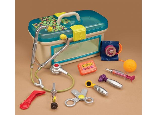 Игровой набор медицинский B.Toys (Battat) с голубой крышкой, фото