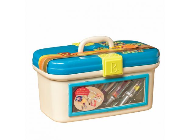 Игровой набор медицинский B.Toys (Battat) с голубой крышкой, фото , изображение 2