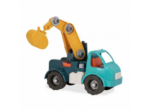 Игрушка-конструктор B.Toys (Battat) «Кран»: 34 элемента, фото