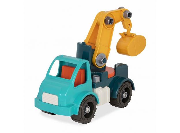 Игрушка-конструктор B.Toys (Battat) «Кран»: 34 элемента, фото , изображение 2