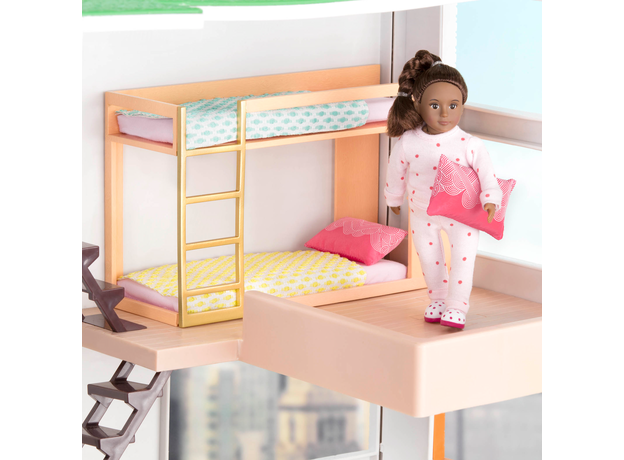 Игровой набор Lori «Двуярусная кровать» с аксессуарами, фото
