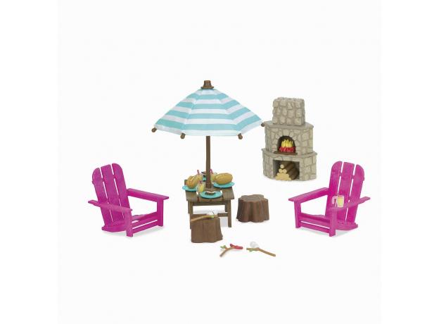 Набор мебели игровой Li'l Woodzeez «Дворик с камином», фото