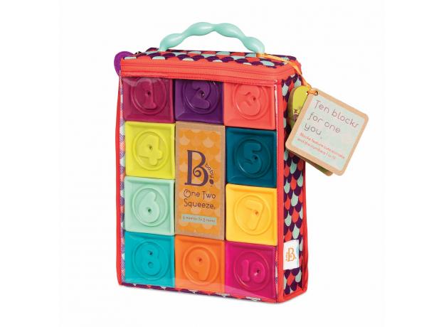 Мягкие кубики B.Toys (Battat) «One Two Squeeze», фото , изображение 3