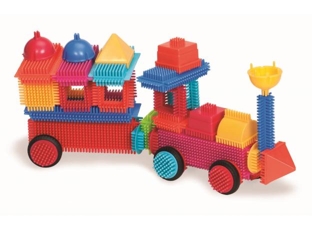 Конструктор игольчатый в чемодане Bristle Blocks (Battat), 113 деталей, фото , изображение 2