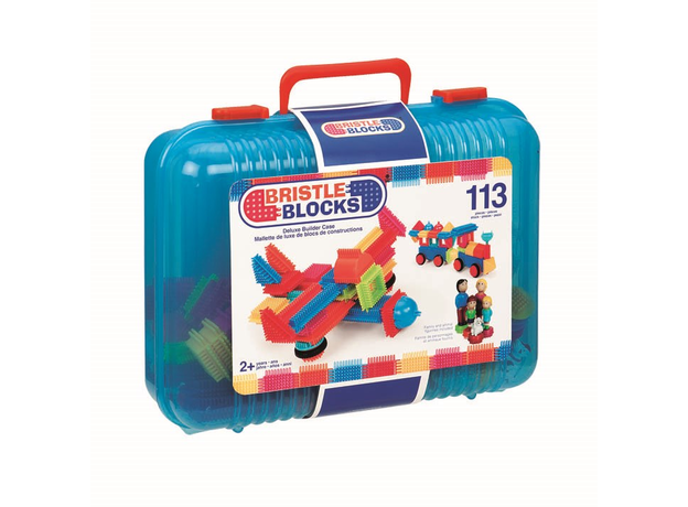 Конструктор игольчатый в чемодане Bristle Blocks (Battat), 113 деталей, фото , изображение 4