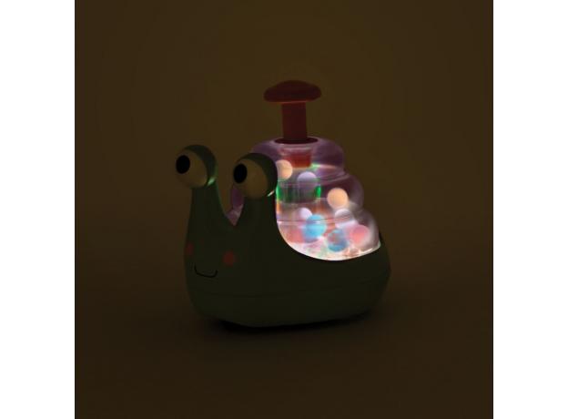Юла с прыгающими шариками и светом Battat «Улитка», фото , изображение 2