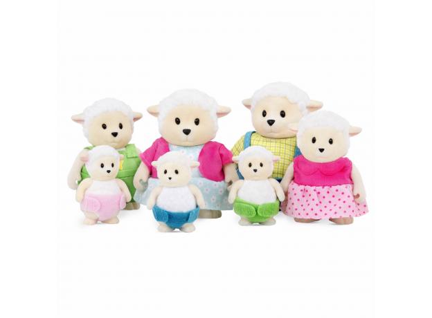 Игровой набор Li'l Woodzeez «Семья овечек»; большой, фото