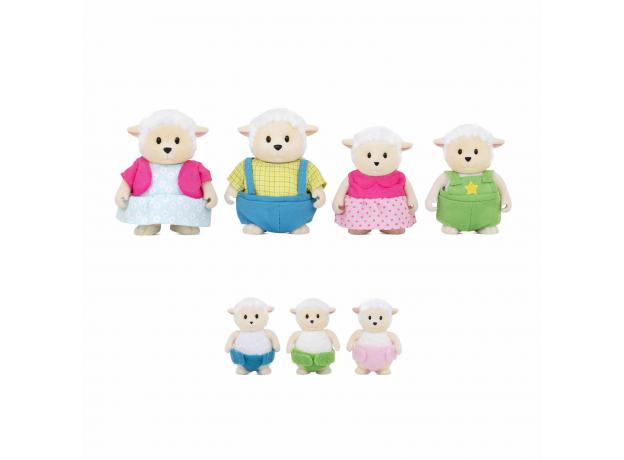 Игровой набор Li'l Woodzeez «Семья овечек»; большой, фото , изображение 2