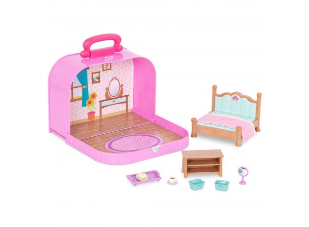 Игровой набор в чемоданчике Li'l Woodzeez «Спальня», фото , изображение 2
