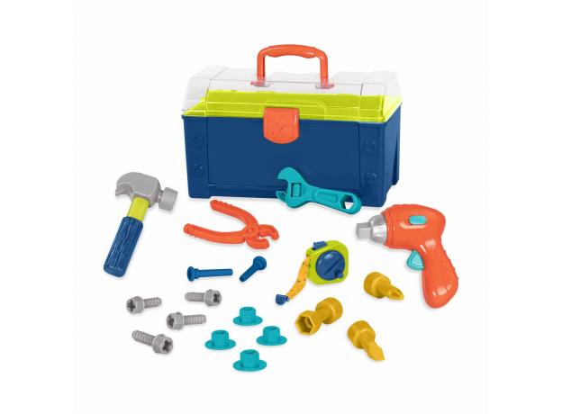 Набор игрушечных строительных инструментов Battat в контейнере, фото