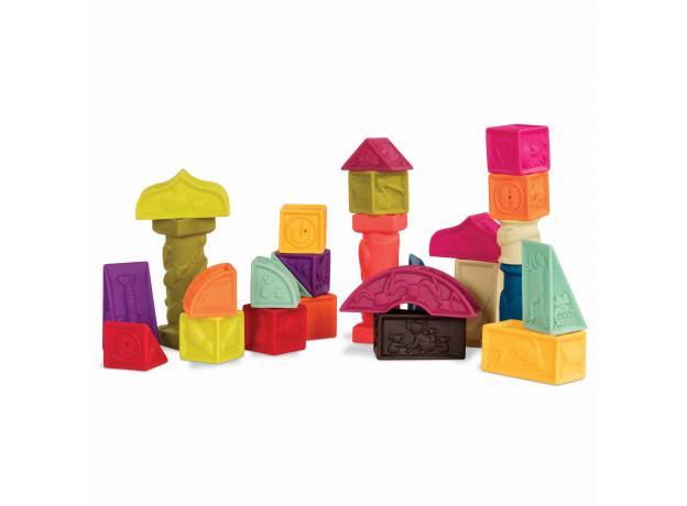 Набор кубиков и других форм B.Toys (Battat) «Elemnosqueeze», фото , изображение 2