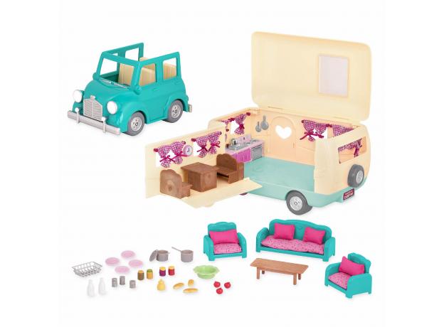 """Набор игровой """"Дом на колёсах"""" с аксессуарами голубой, фото , изображение 4"""