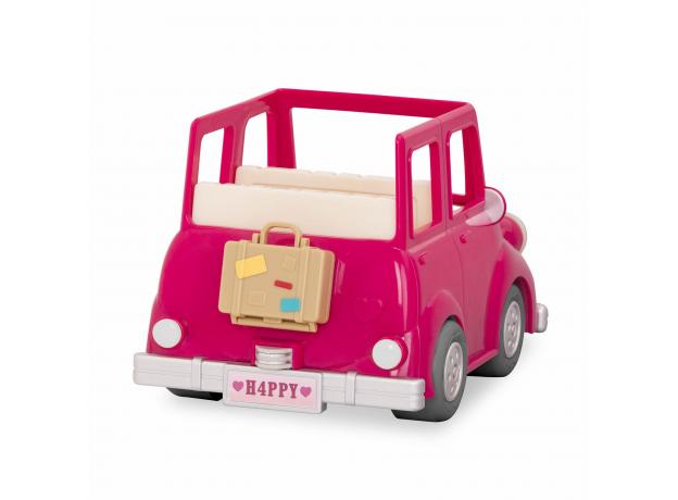 Машина с чемоданом Li'l Woodzeez; розовый, фото , изображение 2