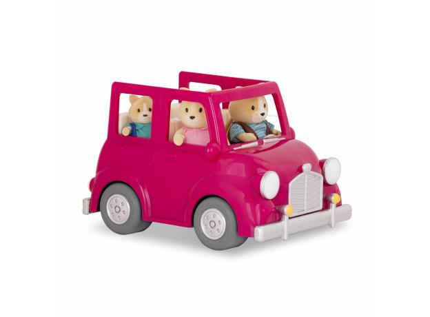 Машина с чемоданом Li'l Woodzeez; розовый, фото , изображение 5