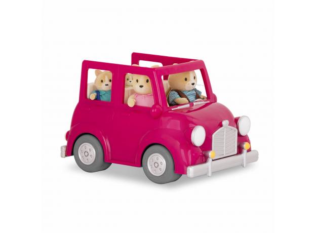 Машина с чемоданом Li'l Woodzeez; розовый, фото , изображение 6