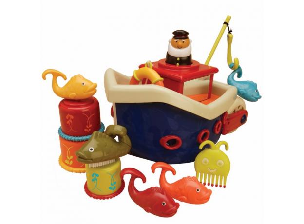 Набор для ванны B.Toys (Battat) «Fish & Squish», фото