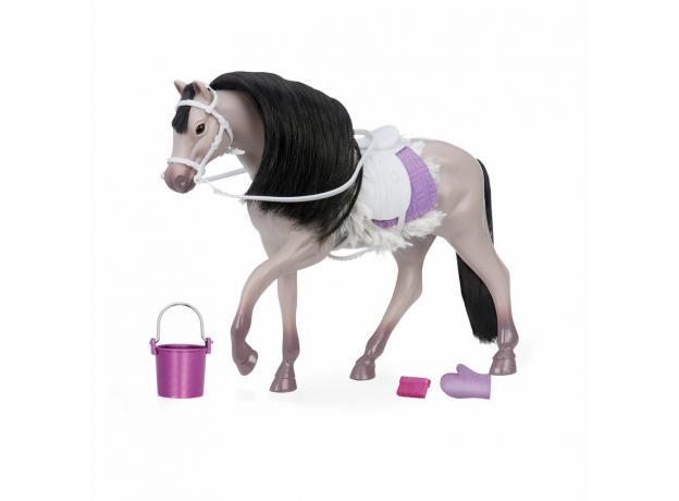 Лошадь породы «Андалузская» Lori с аксессуарами; серая, фото