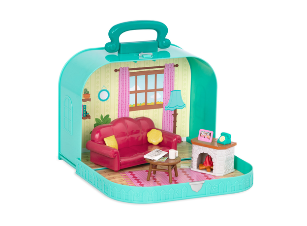 Игровой набор в чемоданчике Li'l Woodzeez «Гостинная», фото , изображение 2