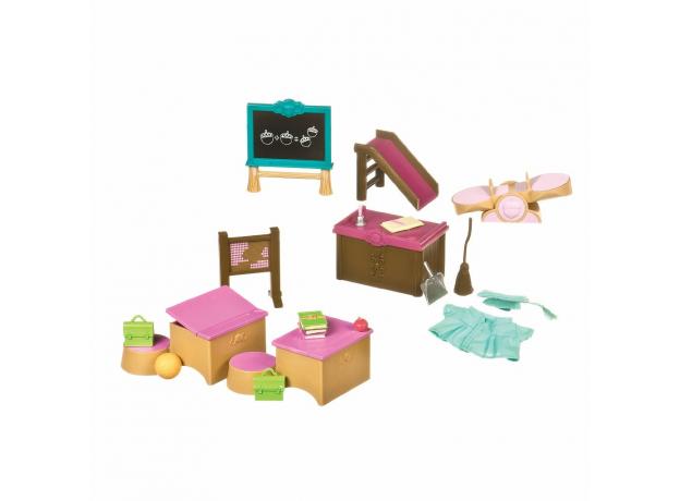 Набор мебели игровой Li'l Woodzeez «Класс + игровая площадка», фото