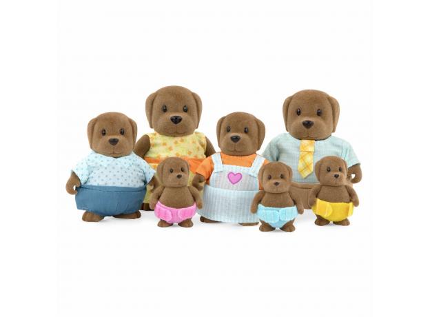 Игровой набор Li'l Woodzeez «Семья собак»; большой, фото