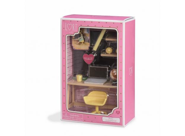Игровой набор Lori «Рабочий уголок дома» с мебелью и аксессуарами, фото , изображение 3