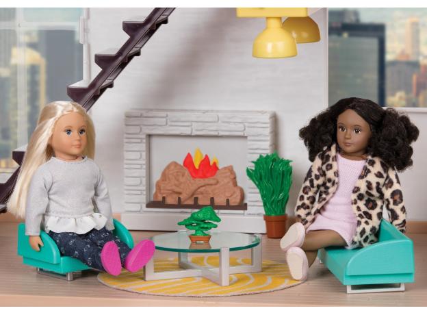 Дом для куклы с аксессуарами; пластмассовый, фото , изображение 8