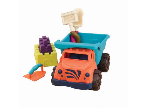 Большой самосвал и игровой набор для песка B.Toys (Battat), фото