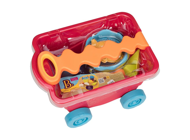 Тележка с игровым набором для песка B.Toys (Battat), красная, фото , изображение 2
